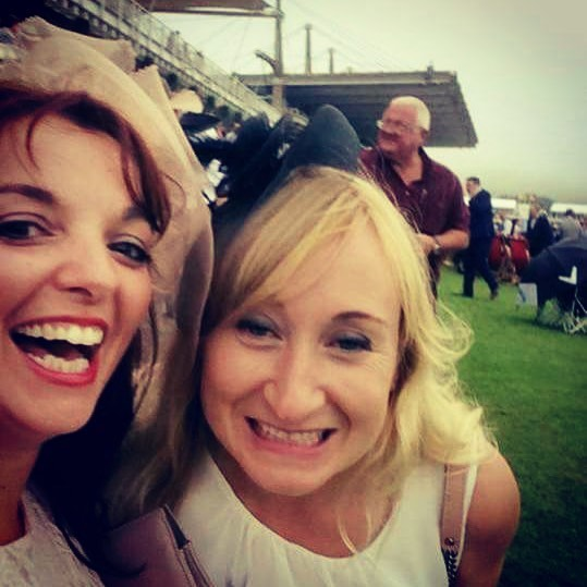 Hayley and Laurie at the races